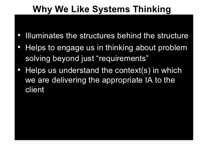 <ul><li>Illuminates the structures behind the structure </li></ul><ul><li>Helps to engage us in thinking about problem sol...