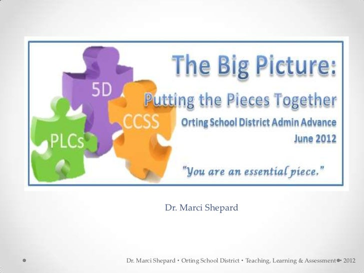 Dr. Marci ShepardDr. Marci Shepard  Orting School District  Teaching, Learning & Assessment  2012
