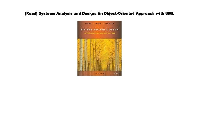 Pdf Systems Analysis And Design An Object Oriented Approach With U