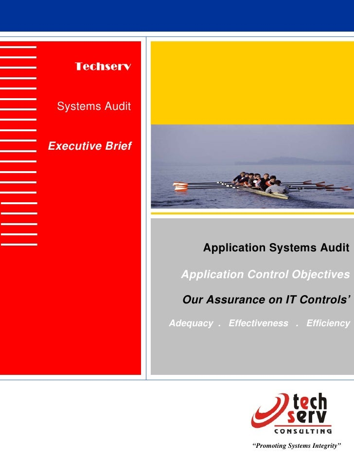Techserv    Systems Audit   Executive Brief                              Application Systems Audit                      Ap...
