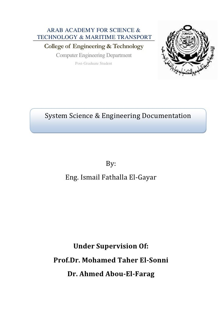 ARAB ACADEMY FOR SCIENCE &TECHNOLOGY & MARITIME TRANSPORT College of Engineering & Technology     Computer Engineering Dep...