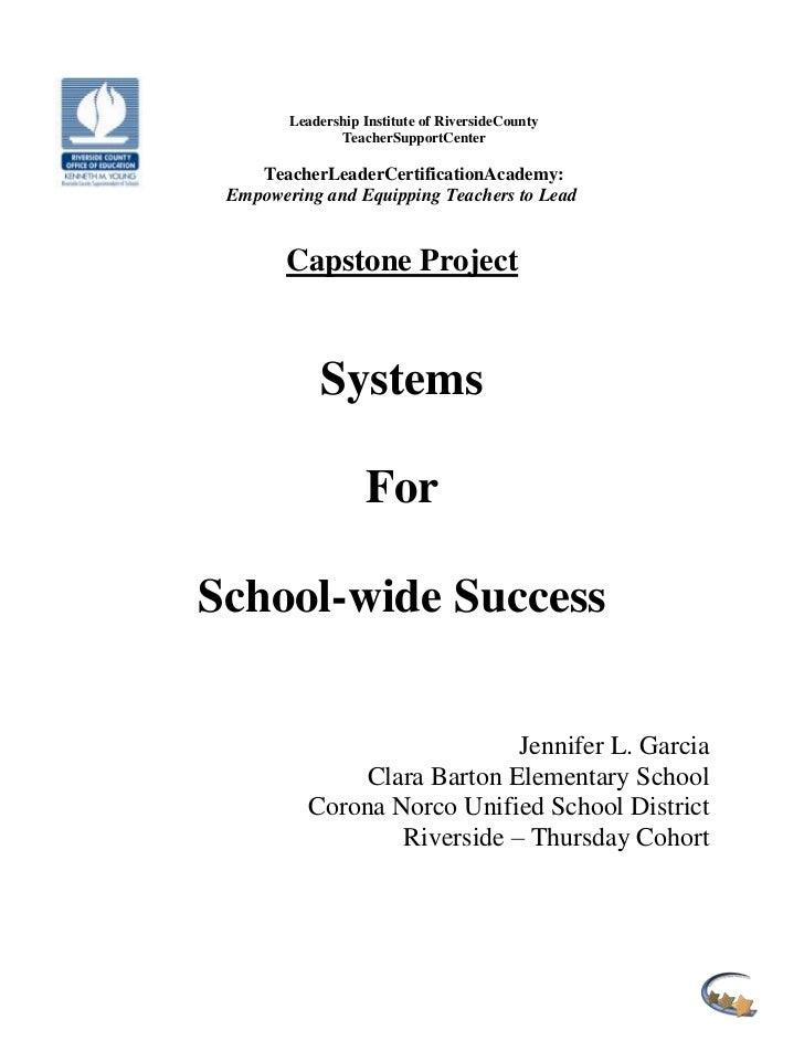Leadership Institute of RiversideCounty               TeacherSupportCenter    TeacherLeaderCertificationAcademy: Empowerin...