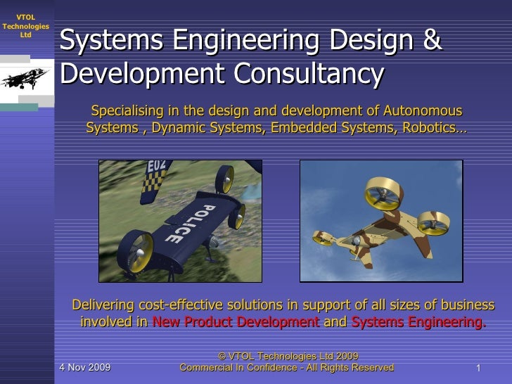 Systems Engineering Design & Development Consultancy Specialising in the design and development of Autonomous Systems , Dy...