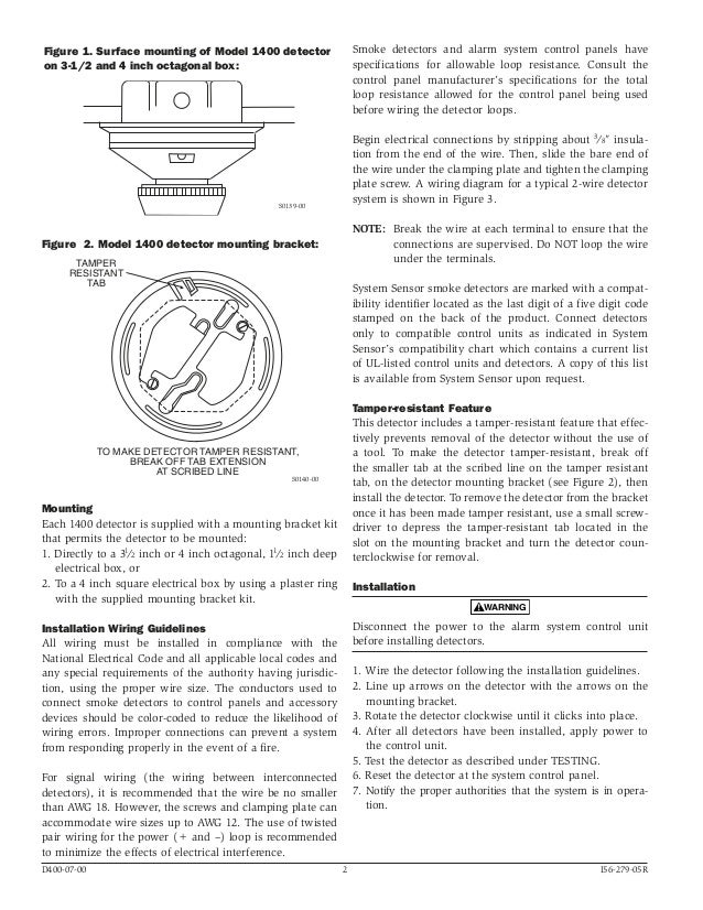 system sensor 1400 manual i560279 2 638?cb=1489886768 system sensor 1400 manual i56 0279 5R55E Transmission Wiring Diagram at bayanpartner.co
