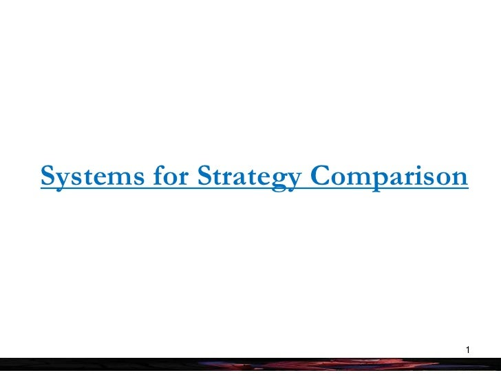 Systems for Strategy Comparison<br />1<br />