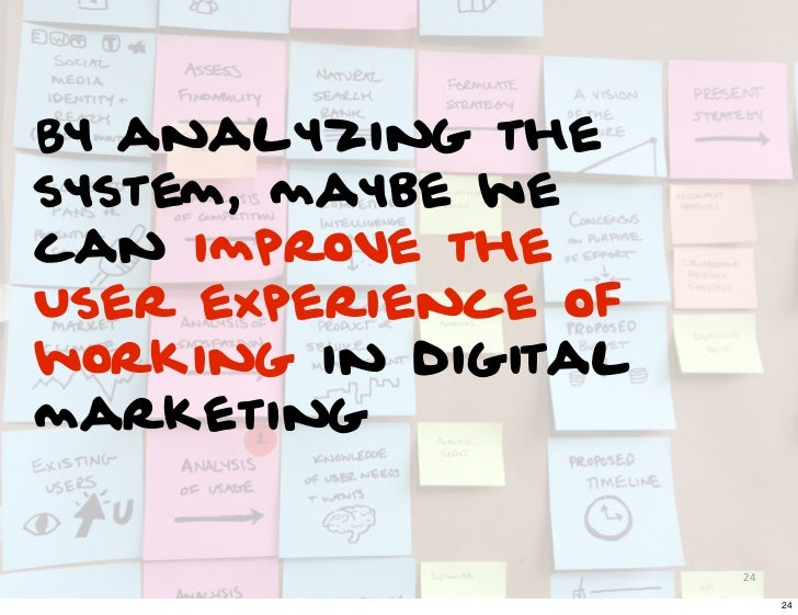 By analyzing thesystem, maybe wecan improve theUser experience ofworking in digitalmarketing                     24       ...