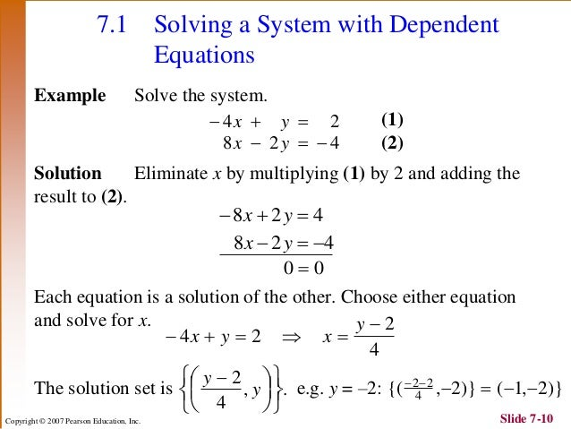 how to find the solution to a system of equations