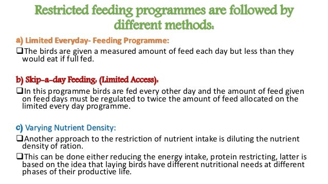 Systems of feeding poultry