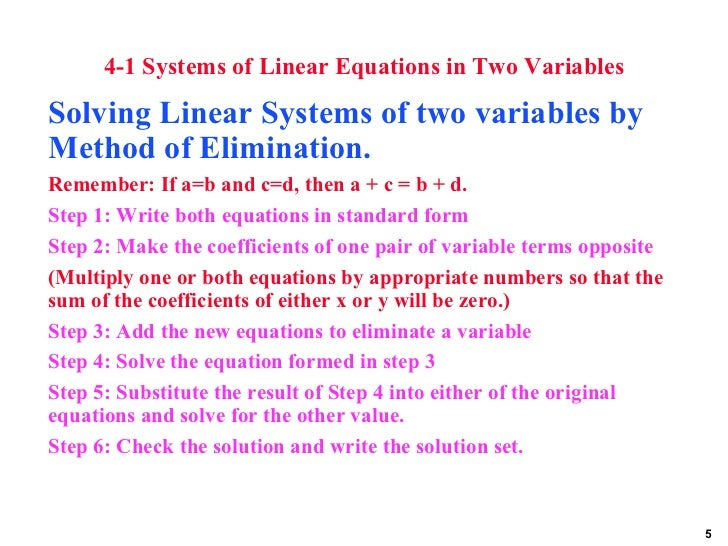 Solve System of Linear Equation?