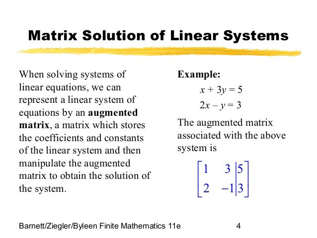 Linear Algebra Examples