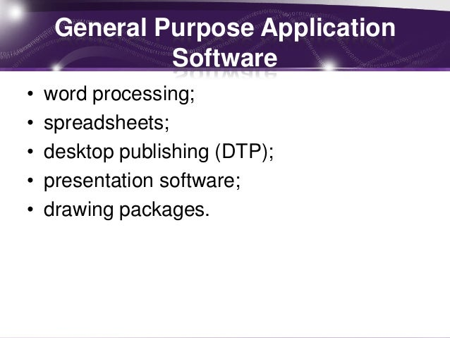 Systems software and applications packages