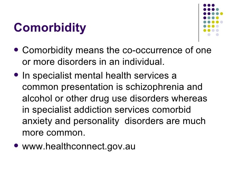 Comorbidity addiction and other mental illnesses