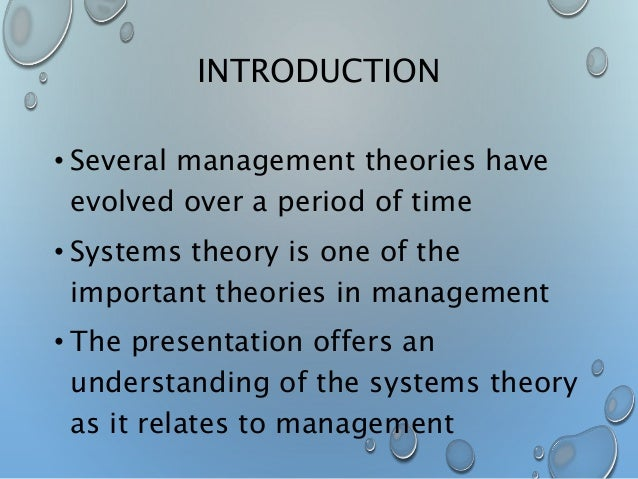 general systems theory in nursing practice