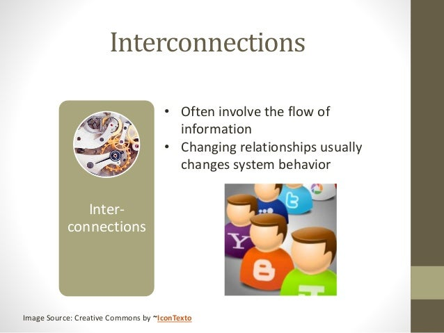 Interconnections Inter- connections • Often involve the flow of information • Changing relationships usually changes syste...