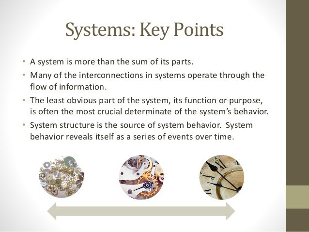 Systems: Key Points • A system is more than the sum of its parts. • Many of the interconnections in systems operate throug...