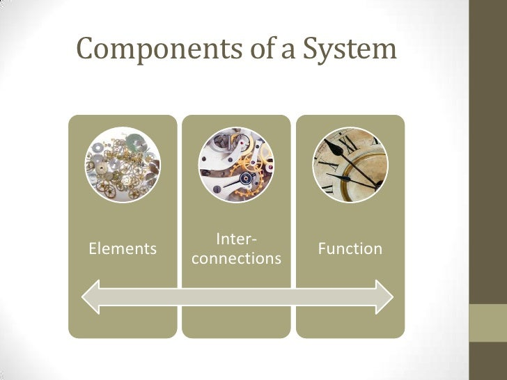 Elements                            • Typically the most obvious part of                              a dynamic system    ...