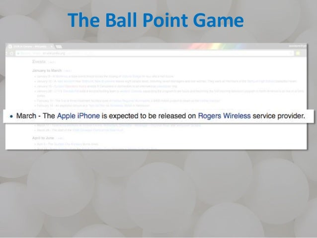 The Ball Point Game