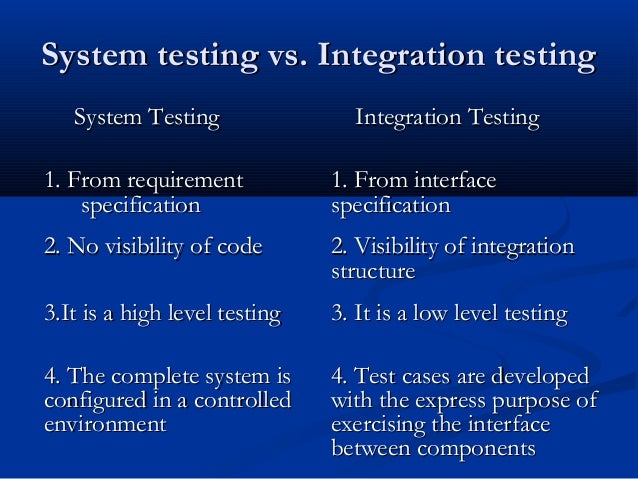 how to write integration tests