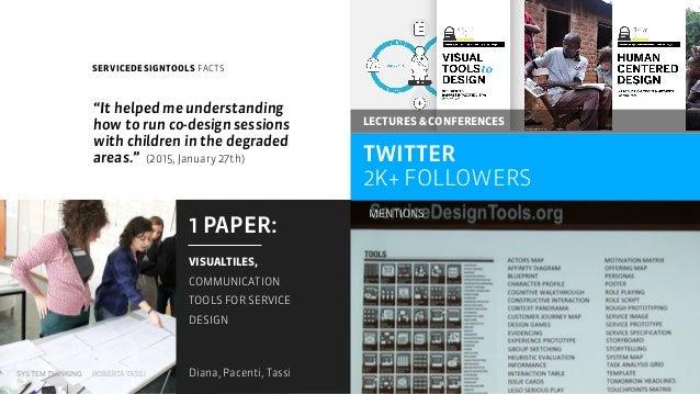 SYSTEM THINKING ROBERTA TASSI SERVICEDESIGNTOOLS FACTS TWITTER 2K+ FOLLOWERS 1 PAPER:  VISUALTILES, COMMUNICATION TOOLS ...