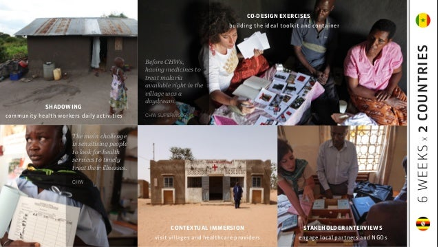 CO-DESIGN EXERCISES building the ideal toolkit and container CONTEXTUAL IMMERSION visit villages and healthcare providers ...