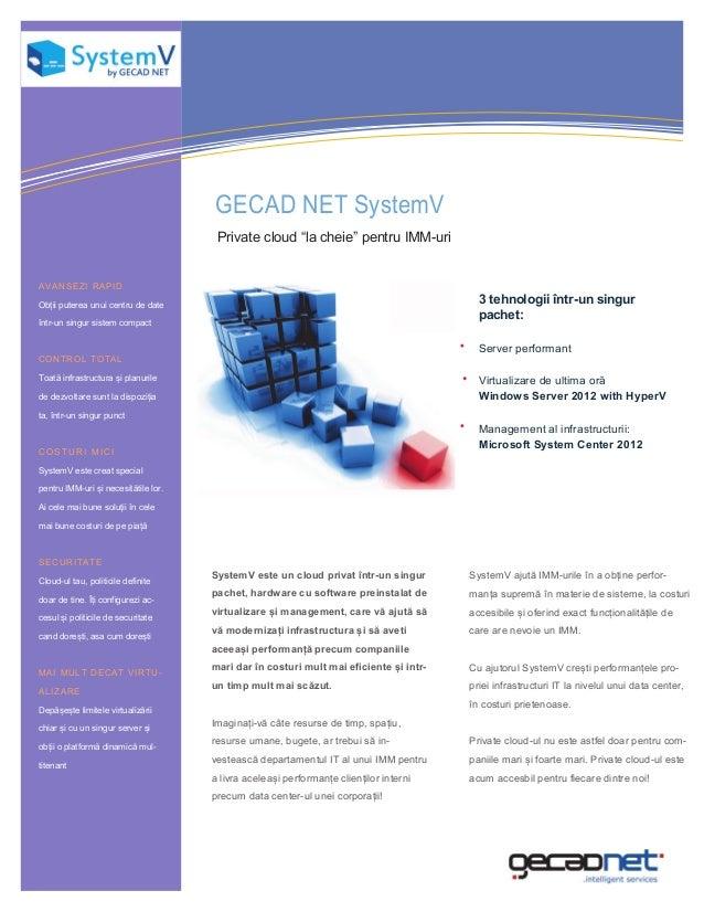 Information Technology Solutions                                      GECAD NET SystemV                                   ...