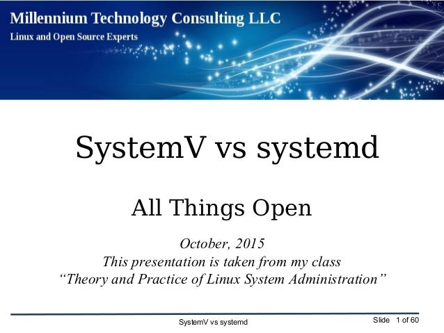 SystemV vs systemd