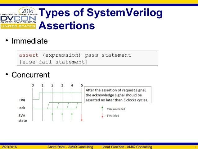 SystemVerilog Assertions verification with SVAUnit - DVCon US 2016 Tu…