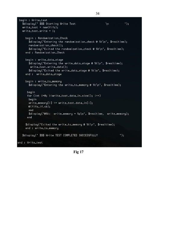 Verification of ASYNCHRONOUS FIFO