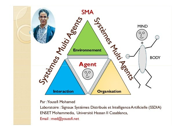 Environnement  Agent  MIND  +  BODY  SSMMAA  Interaction Organisation  Par : Youssfi Mohamed  Laboratoire : Signaux Systèm...