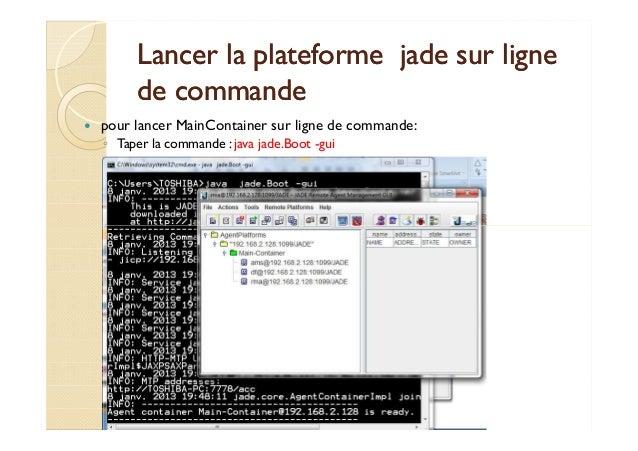 Lancer la plateforme jjaaddee ssuurr lliiggnnee  ddee ccoommmmaannddee   pour lancer MainContainer sur ligne de commande: ...
