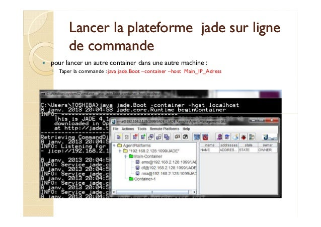Lancer la plateforme jjaaddee ssuurr lliiggnnee  ddee ccoommmmaannddee   pour lancer un autre container dans une autre mac...