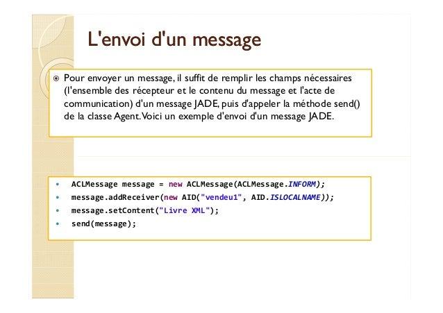 LL''eennvvooii dd''uunn mmeessssaaggee   Pour envoyer un message, il suffit de remplir les champs nécessaires  (l'ensemble...