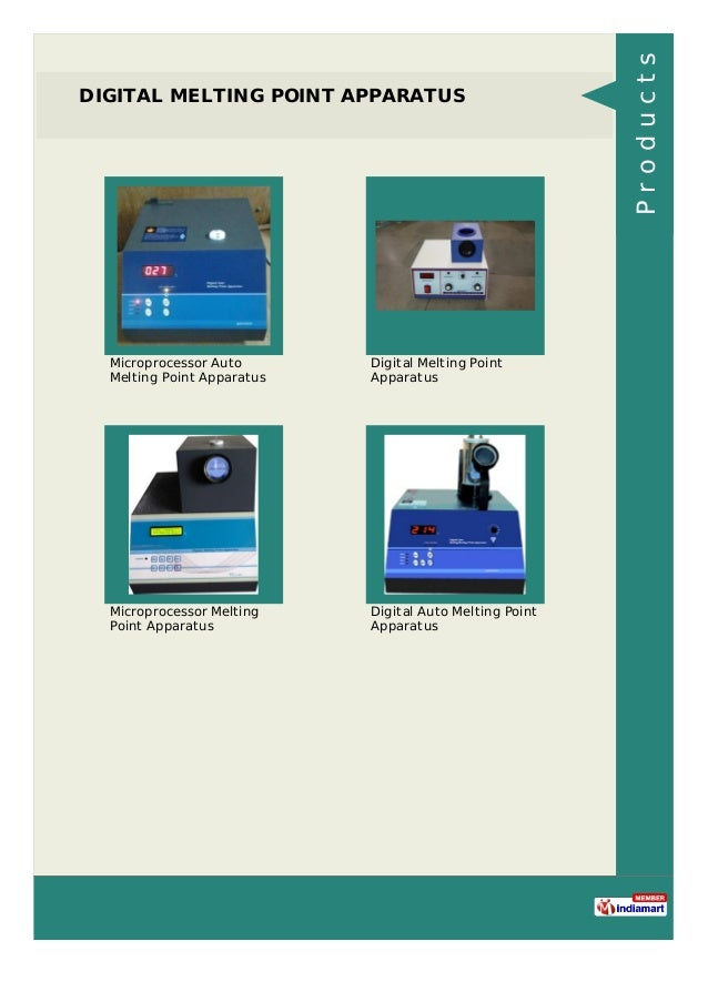 DIGITAL MELTING POINT APPARATUS Microprocessor Auto Melting Point Apparatus Digital Melting Point Apparatus Microprocessor...