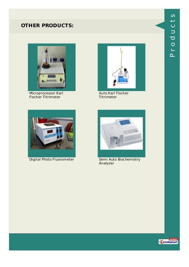 OTHER PRODUCTS: Microprocessor Karl Fischer Titrimeter Auto Karl Fischer Titrimeter Digital Photo Fluorometer Semi Auto Bi...