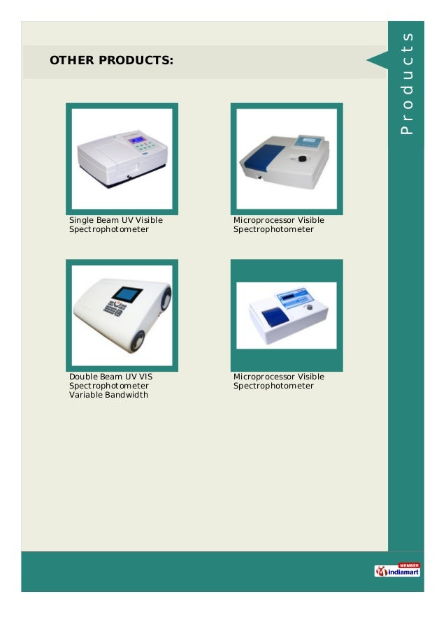 OTHER PRODUCTS: Single Beam UV Visible Spectrophotometer Microprocessor Visible Spectrophotometer Double Beam UV VIS Spect...