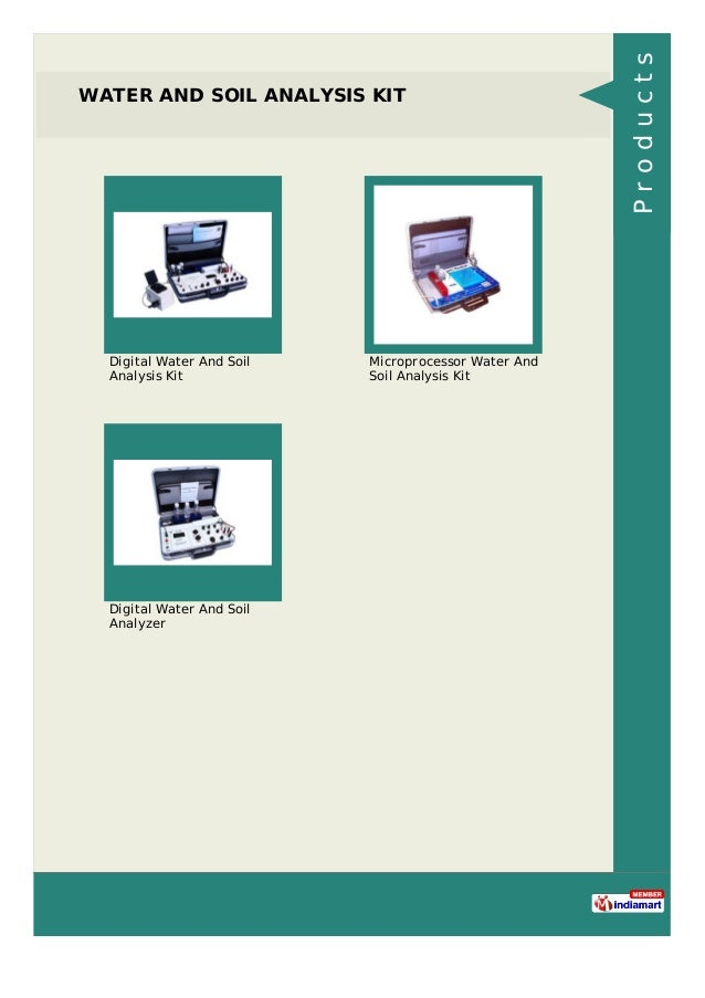WATER AND SOIL ANALYSIS KIT Digital Water And Soil Analysis Kit Microprocessor Water And Soil Analysis Kit Digital Water A...