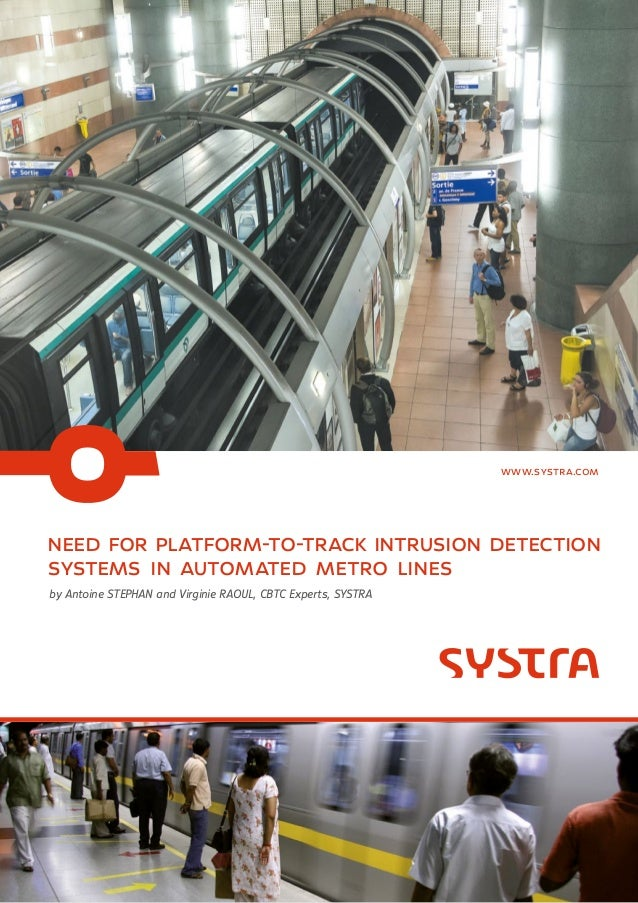 need for platform-to-track intrusion detection systems in automated metro lines by Antoine STEPHAN and Virginie RAOUL, CBT...