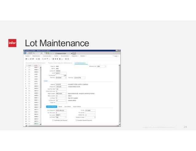 Infor SyteLine ERP Module Demos: Shop Floor and Quality