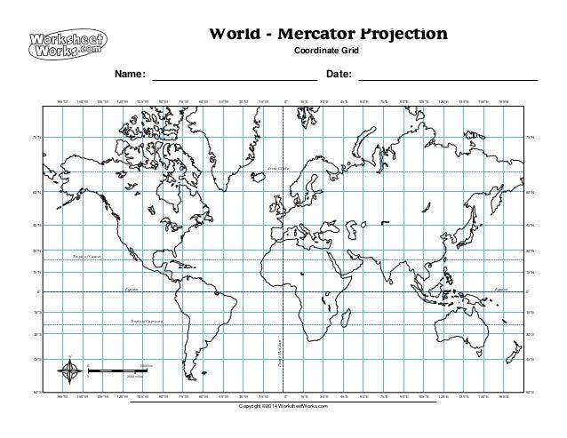 worksheet works world mercator projection 2. Black Bedroom Furniture Sets. Home Design Ideas