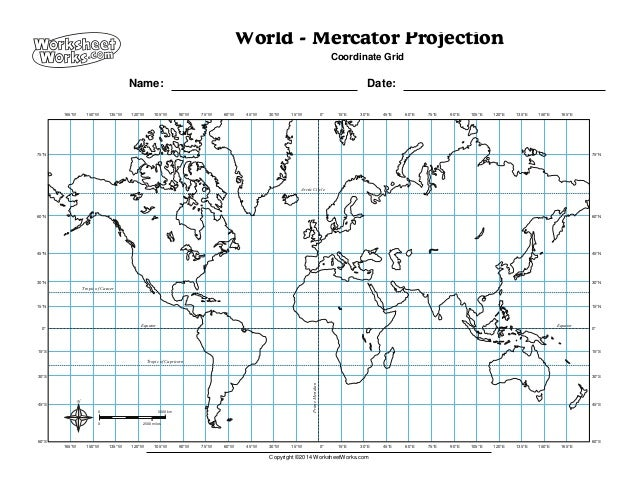 Worksheet works worldmercatorprojection2 worksheet works worldmercatorprojection2 world mercator projection coordinate grid name date equator equator prime meridian copyright ibookread ePUb