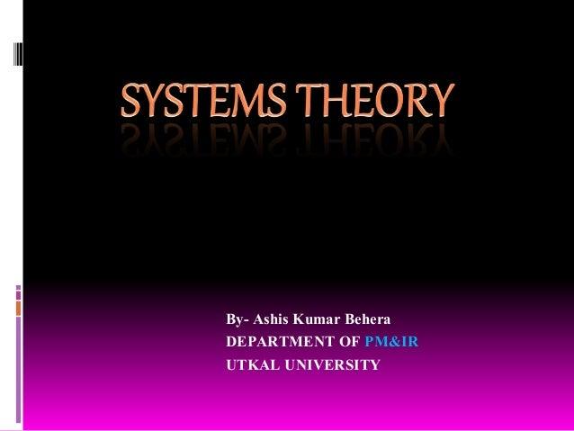 By- Ashis Kumar Behera DEPARTMENT OF PM&IR UTKAL UNIVERSITY