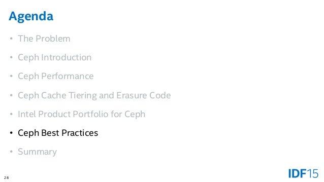 Ceph: Open Source Storage Software Optimizations on Intel