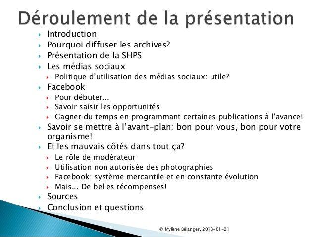 Facebook, un incontournable pour la diffusion! Slide 2