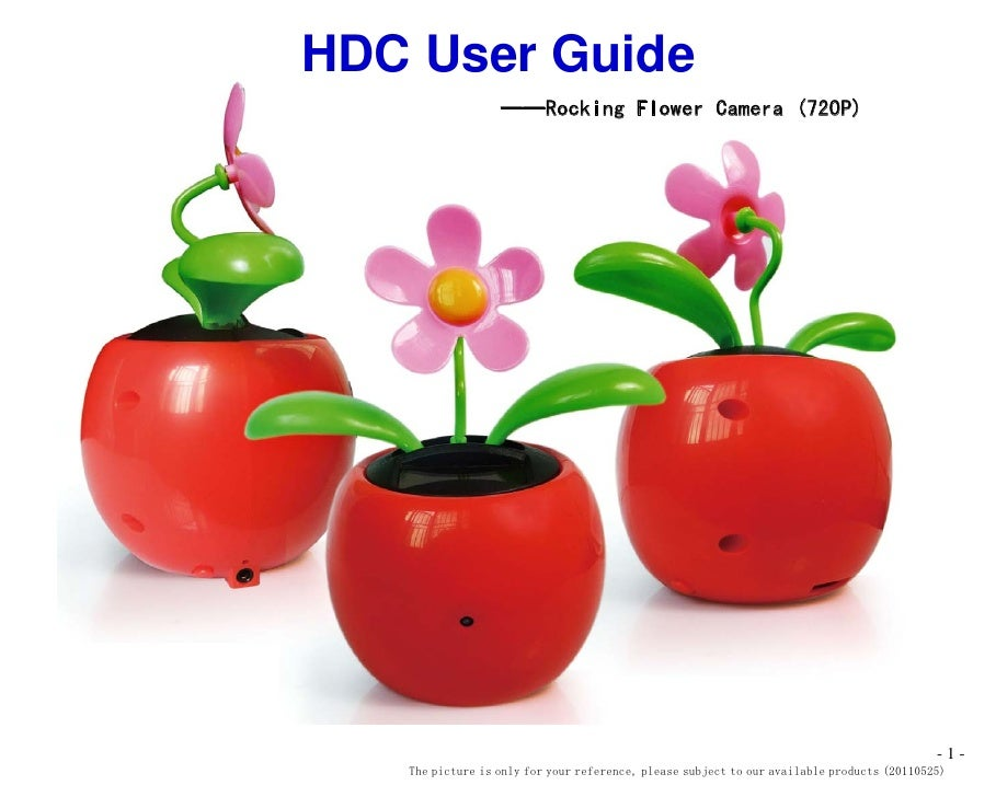 HDC User Guide                  ——Rocking Flower Camera (720P)                                                            ...