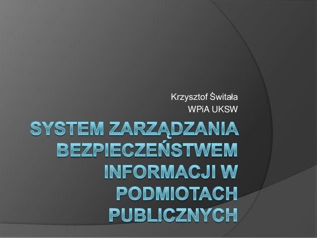 Krzysztof Świtała    WPiA UKSW