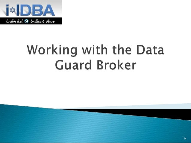 Oracle standard edition one data guard broker