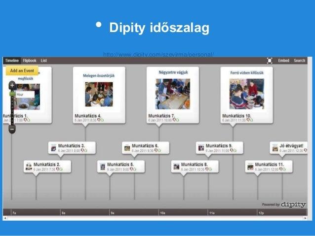 • Dipity időszalag http://www.dipity.com/szevirma/personal/