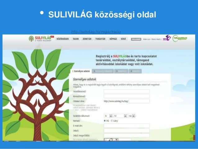 • SULIVILÁG közösségi oldal http://sulivilag.hu/regisztracio
