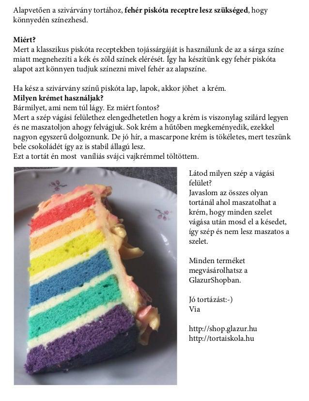 Alapvetően a szivárvány tortához, fehér piskóta receptre lesz szükséged, hogy könnyedén színezhesd. Miért? Mert a klasszik...