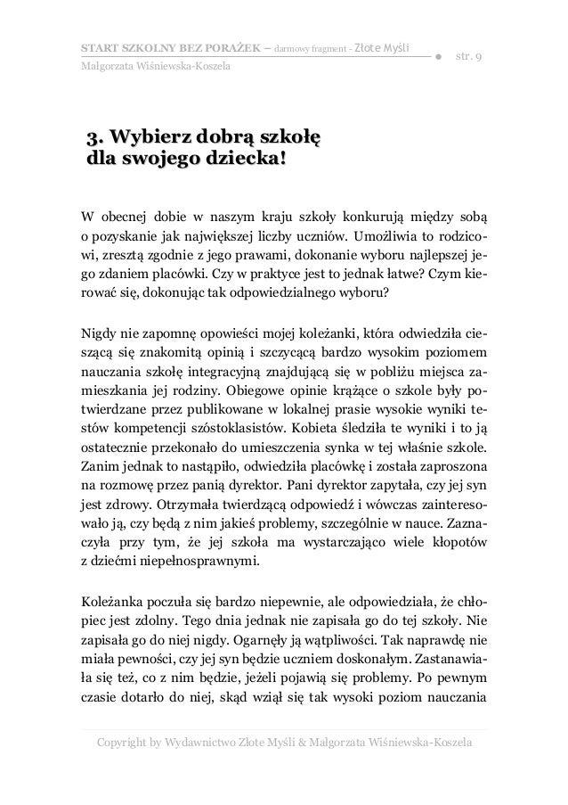 Szkolny Start Dziecka Małgorzata Wiśniewska Koszela